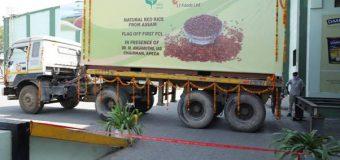 असम – 'लाल चावल' की पहली निर्यात खेप संयुक्त राज्य अमेरिका के लिए रवाना